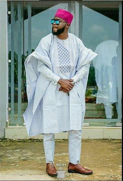 White Agbada styles