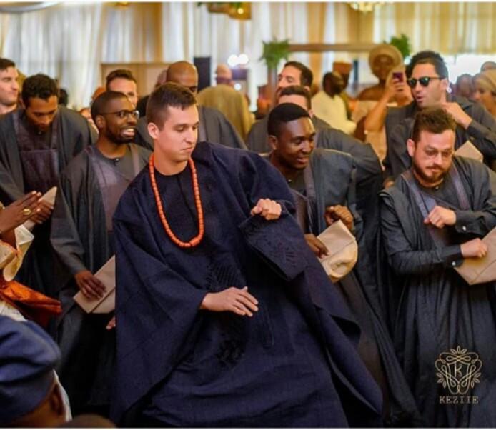 Latest Agbada styles for wedding oyinbo