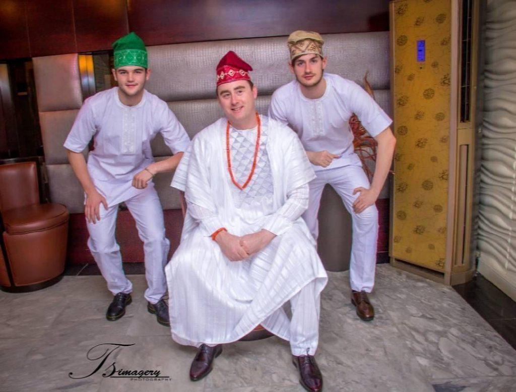 Gang in Agbada white