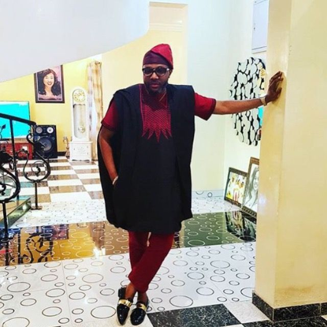 Latest black Agbada style for men
