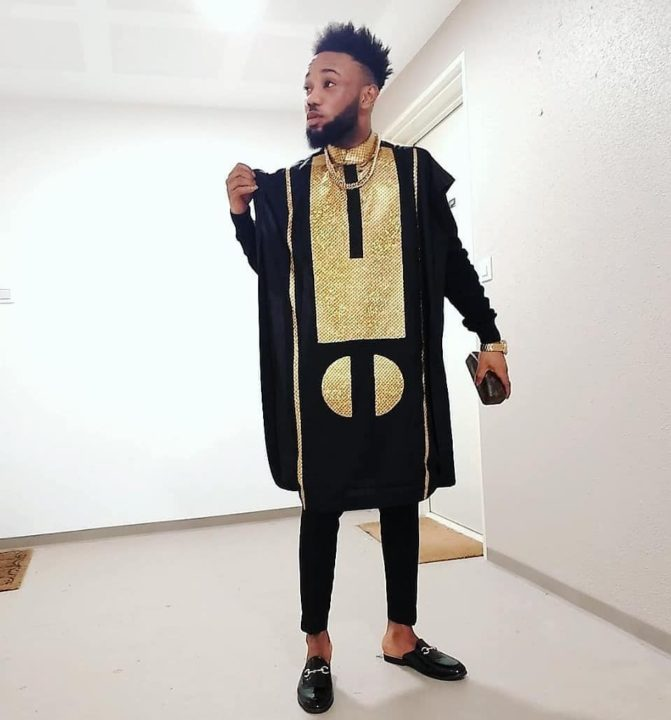 Latest Agbada outfit
