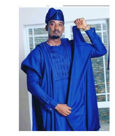 Deep blue Agbada Style for men