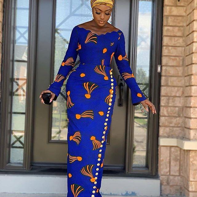 Latest Ankara style gown