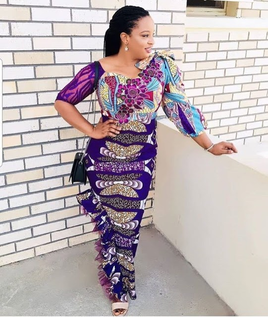 fitted styled Ankara gown
