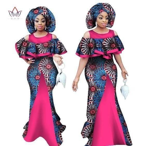 Lovely fitted gown style Ankara