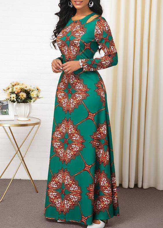long pretty ankara gown style