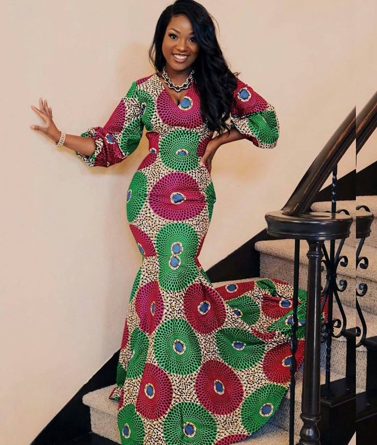 fitted ankara gown style