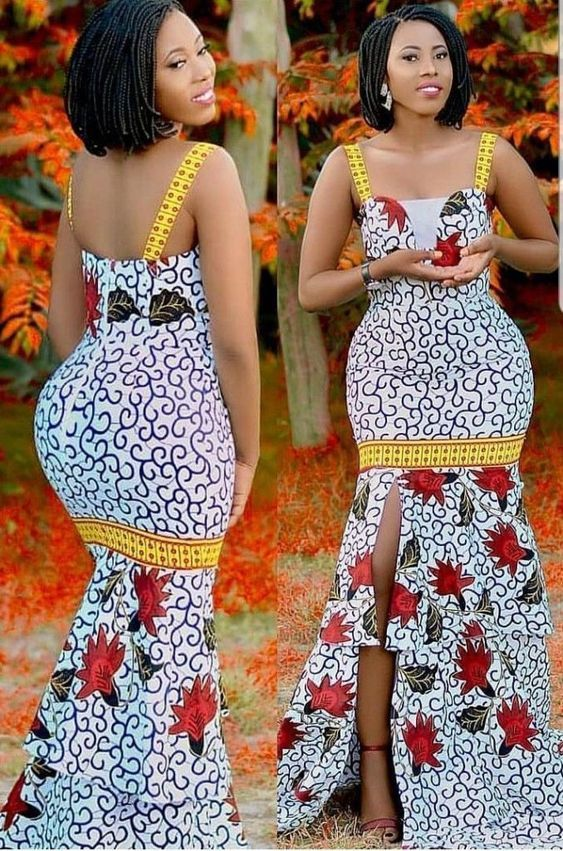 Ankara gown style for curvy ladies