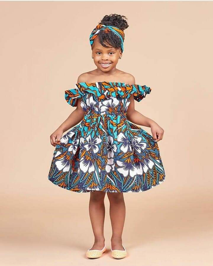 Ankara gown style for kids