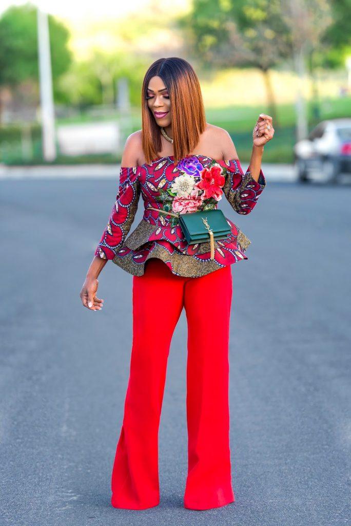 ankara trousers and peplum top
