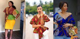 Ankara wrap top styles for ladies