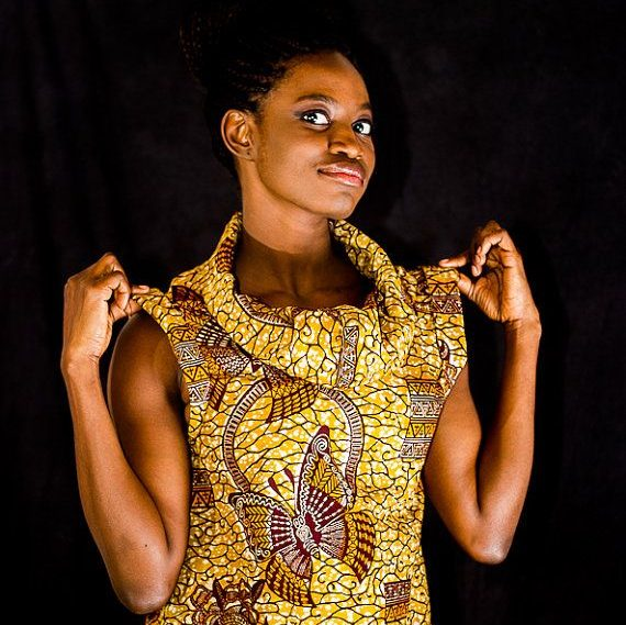 ankara blouse style