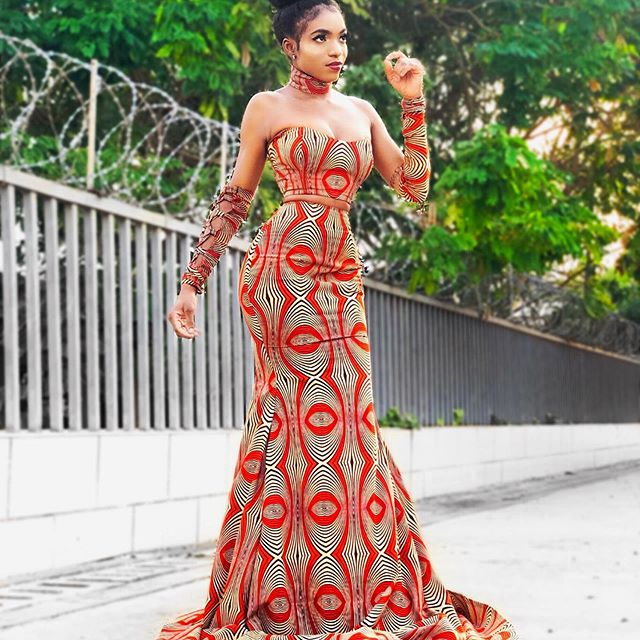ankara long gown pictures