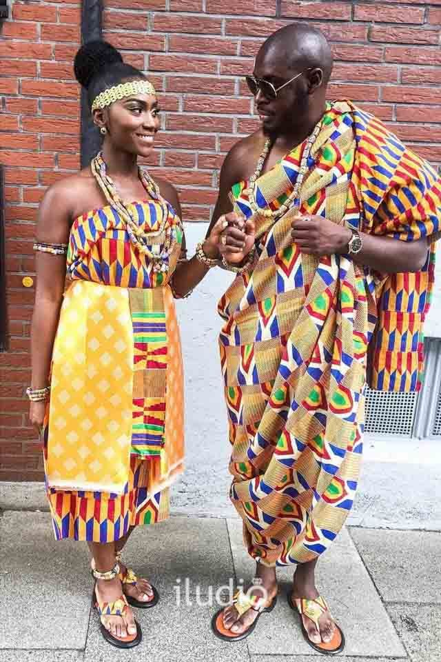 Igbo couple ankara style