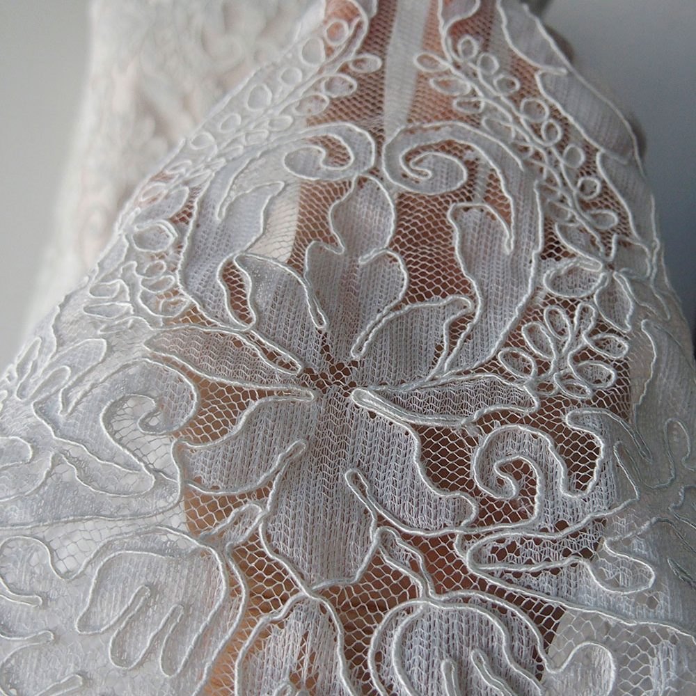 Corded lace meterial