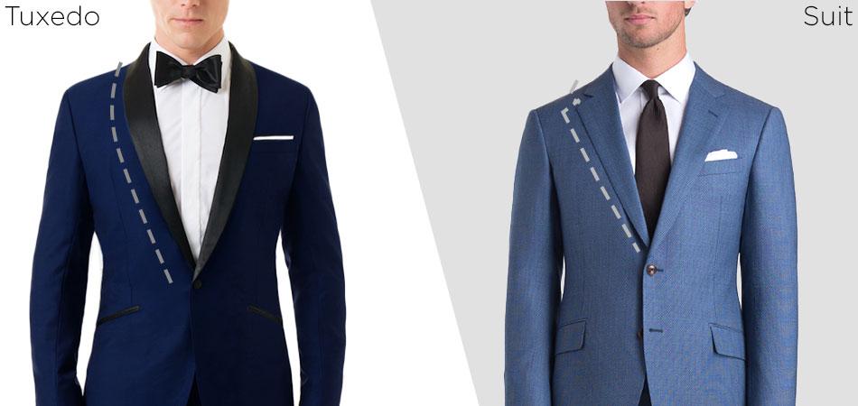 tux vs suit lapel