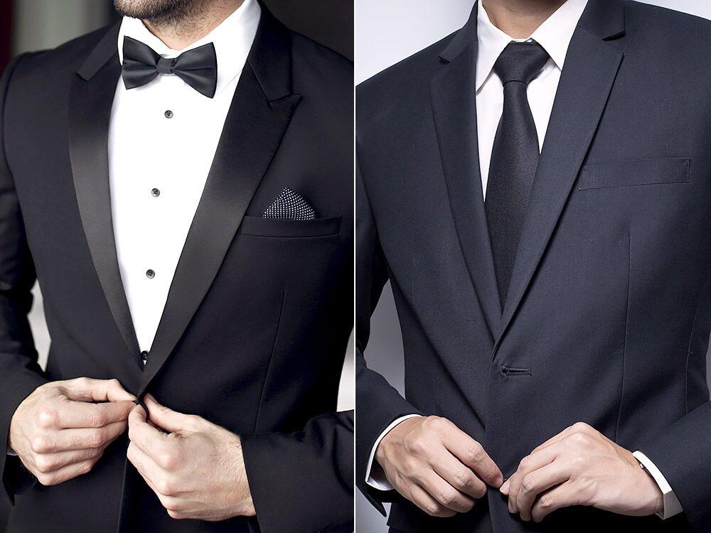 tux vs suit color