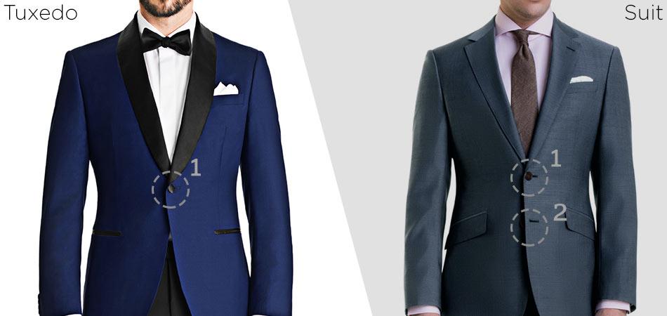 tuxedo vs suit button