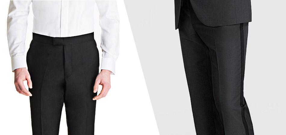 tuxedo vs suit pants