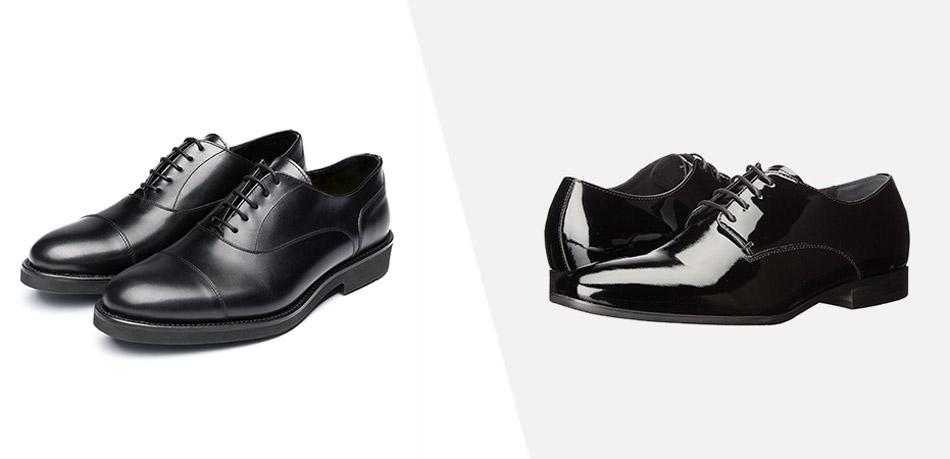 tux vs suit shoes