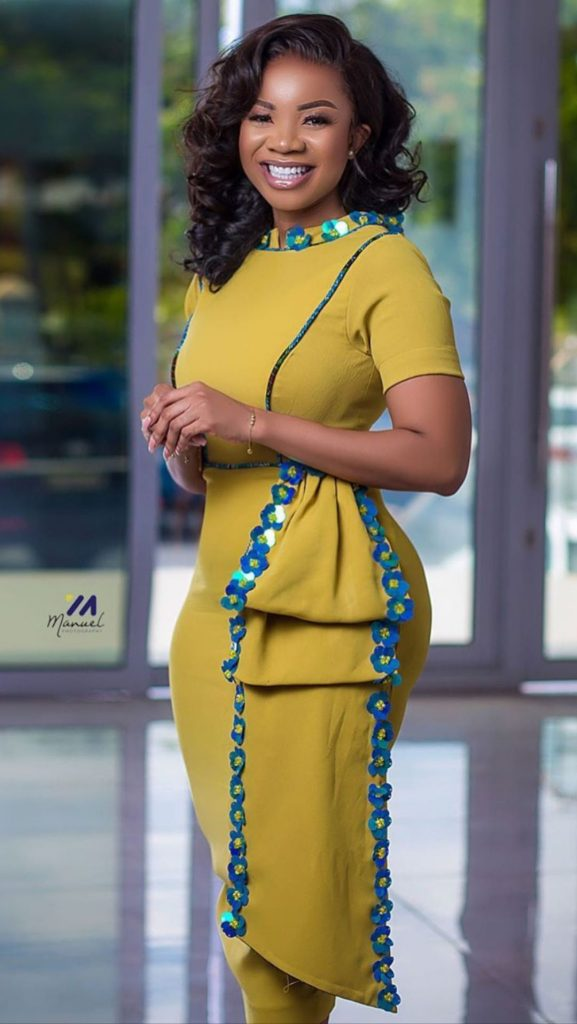 ankara short gown for ladies
