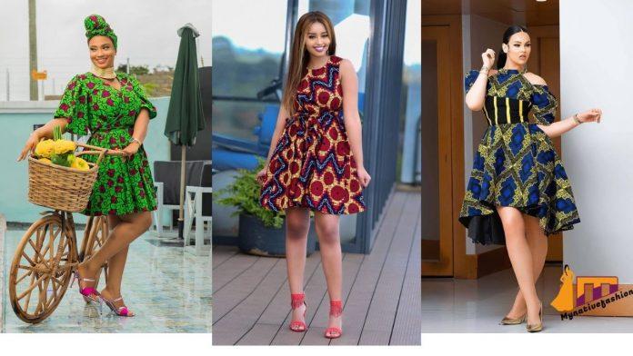 Ankara Short Flare Gowns