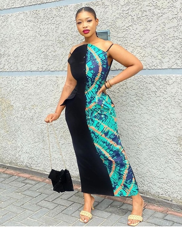 plain and pattern gown styles for ladies
