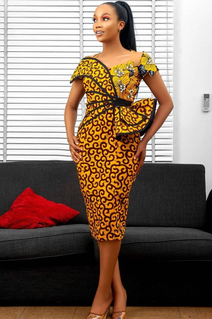 hot ankara gown picture