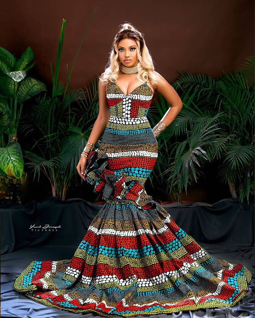 long ankara gown picture