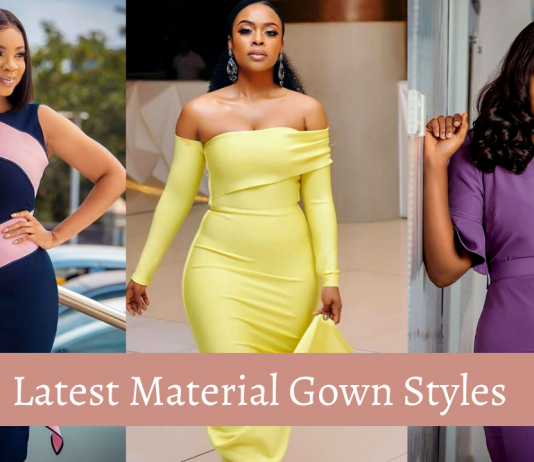 Latest Material Gown Styles